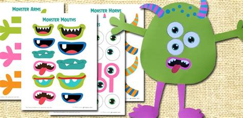 build monster free printable craft kit printable crafts