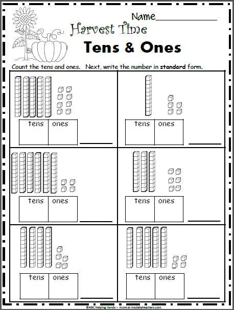 free fall math worksheets 1st grade base 10