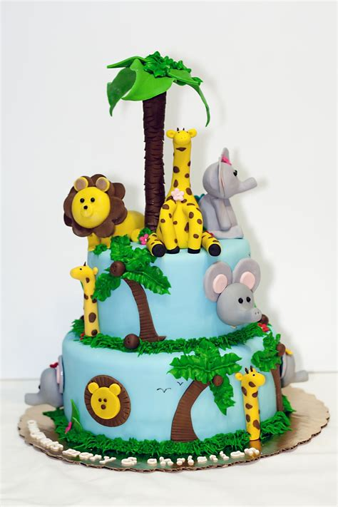 safari themed baby shower cake cakecentral