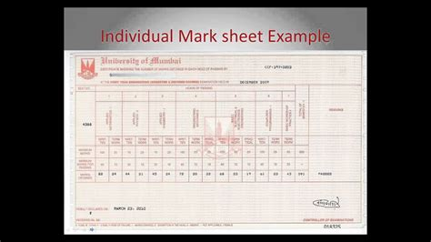 individual mark sheet requirement indian students youtube