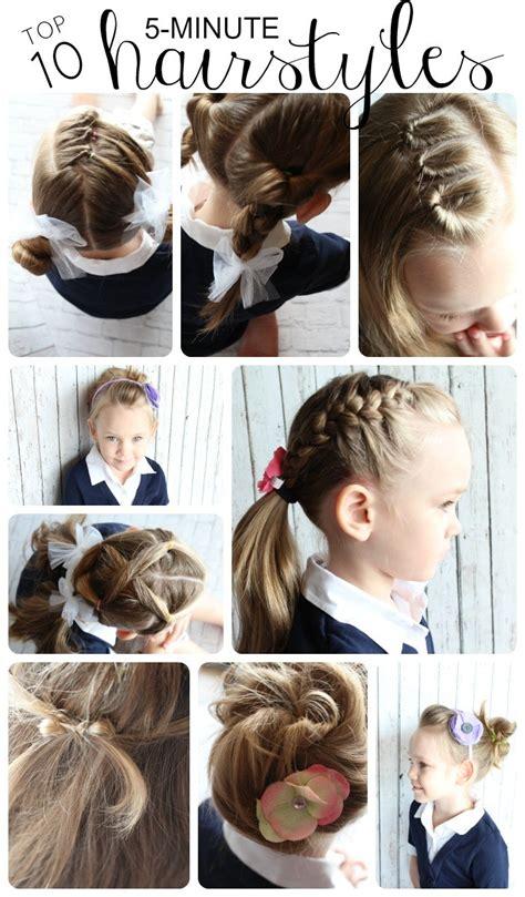 10 easy hairstyles girls simple