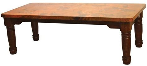 hand hammered copper dining table farm base item