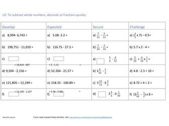 2017 year 6 maths sats revision week 3