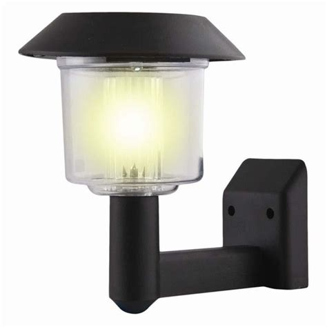 solar light powered wall light auto sensor fence