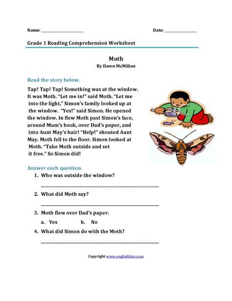 2nd grade reading comprehension worksheets math worksheet kids