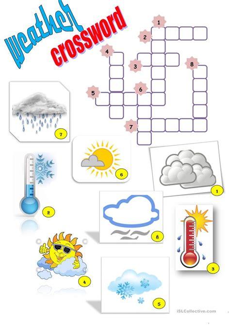 weather crossword worksheet free esl printable worksheets teachers