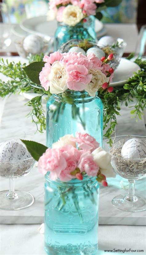 easiest tint mason jars blue setting