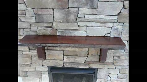 stone fireplace black walnut mantle youtube