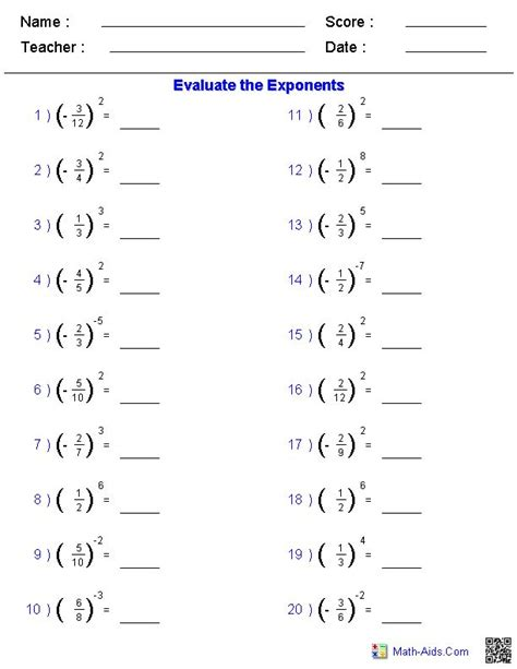 solving fractions exponents worksheets wear fractions worksheets fractions