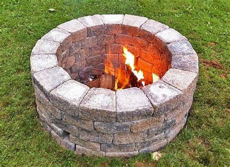 easy diy fire pit ideas spruce backyard