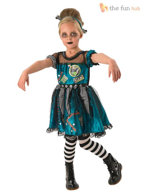 age 3 10 girls bride frankenstein zombie halloween