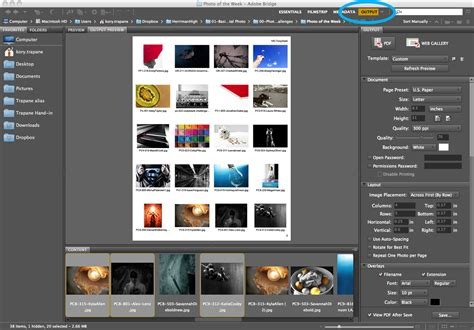 hhs creative create contact sheet template adobe bridge