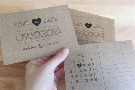 save date postcards diy deborah