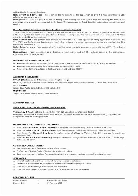 5 years experience java resume format job resume