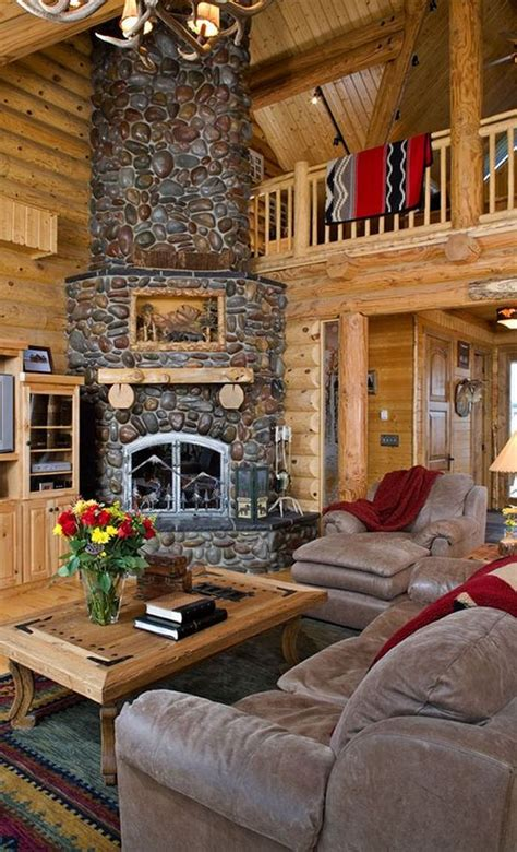 34 beautiful stone fireplaces rock