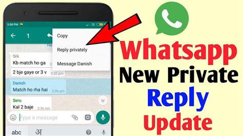 ómo responder mensajes de chat grupal de whatsapp