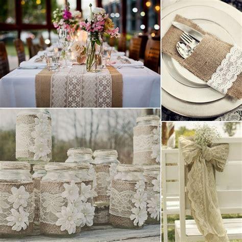 burlap lace wedding inspiration