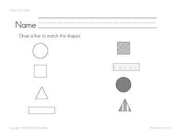 shapes worksheets math basic skills sped corner tpt