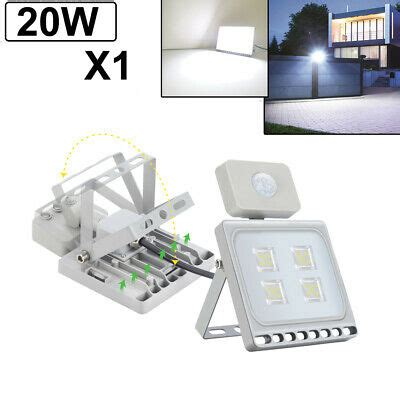 20w led flood light pir motion sensor spot