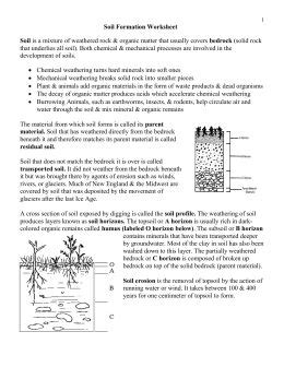 soil formation worksheet mechanical weathering chemical weathering soil