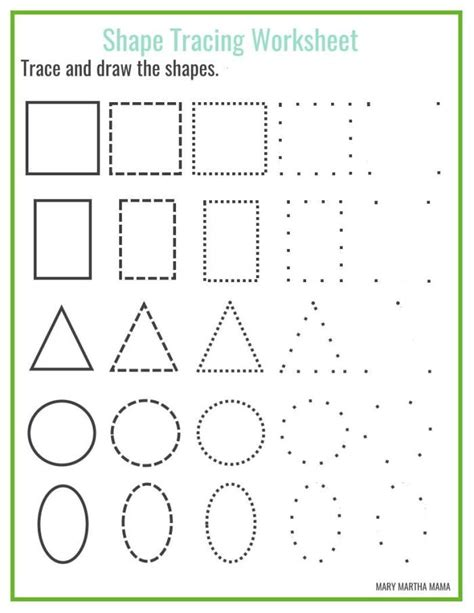 shapes worksheets kids allfreepapercrafts