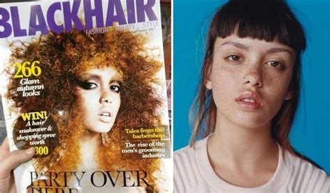 blackhair magazine accidentally white model latest cover independent