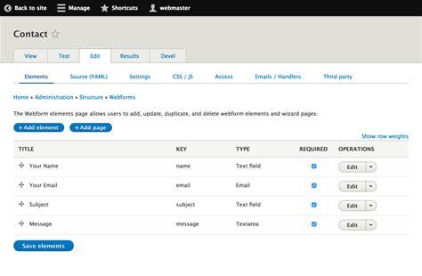 webform features drupal 8 guide drupal