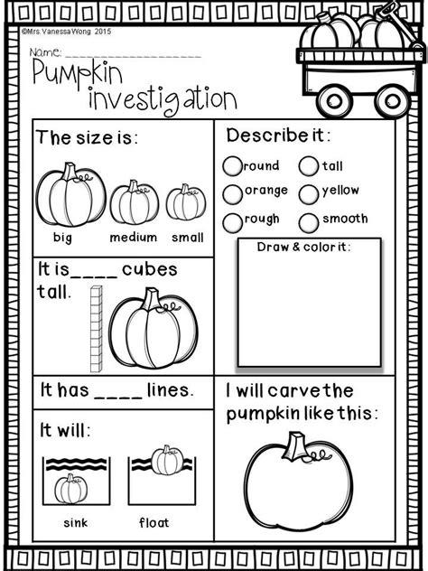 fall activities kindergarten math literacy prep printables fall