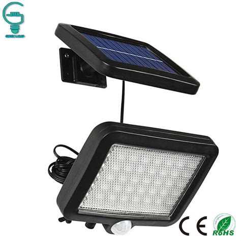 56 led outdoor solar wall light pir motion