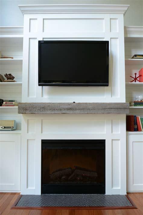 install barn beam mantel living room built