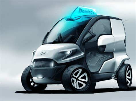 domino pizza delivery car concept anej kostrevic local