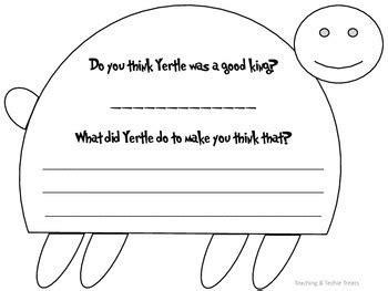 yertle turtle writing activity teaching techie treats