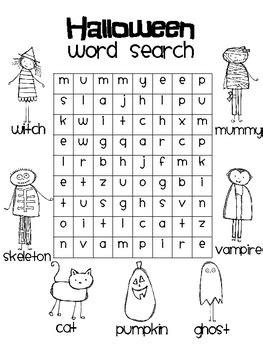 halloween word search rachelle smith teachers pay teachers