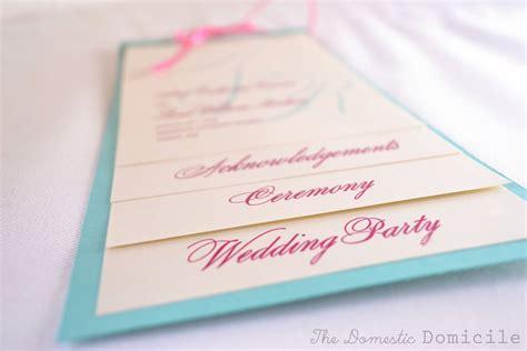 diy multi layer wedding programs weddingbee photo gallery