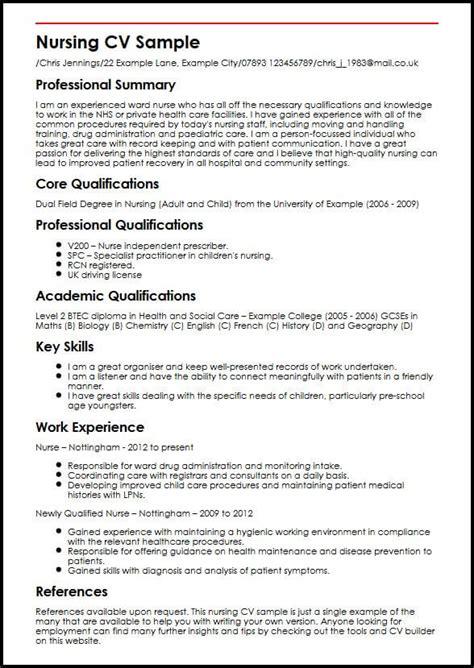 write cv nursing jobs nursing resume