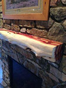 5 red cedar fireplace mantel beam log rustic