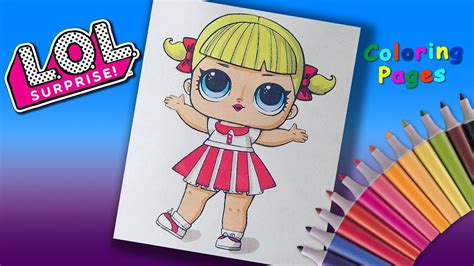 lol surprise doll coloring pages coloring girls cheer