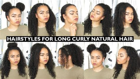 7 easy everyday hairstyles natural curly hair youtube
