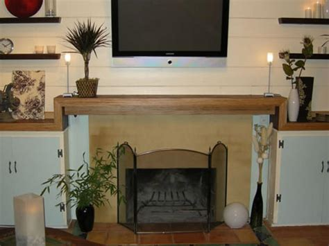 create contemporary fireplace mantel hgtv