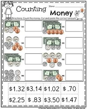 money worksheets planning playtime teachers pay teachers