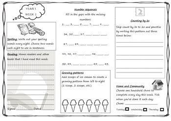 queensland year 1 homework set unit 1 english