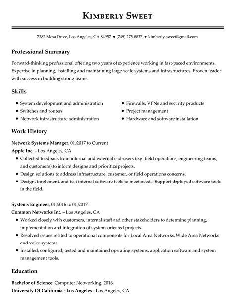 free resume exles industry job title livecareer