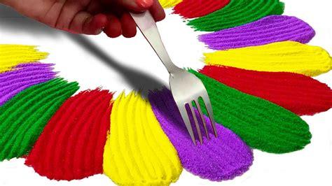 colourful rangoli design बन न क तर क