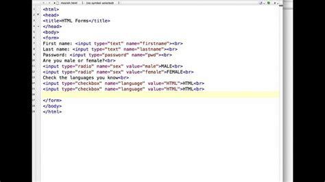 create registration form html youtube