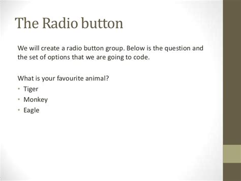code radio buttons html5 css styling