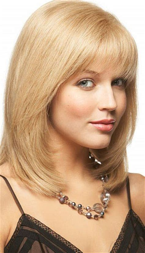 lovely shoulder length layered bob hairstyles bangs thin