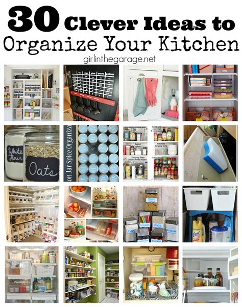 30 clever ideas organize kitchen girl garage