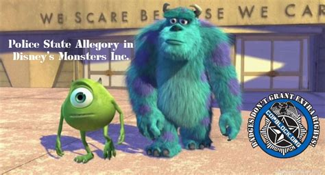 police state allegory disney monsters block