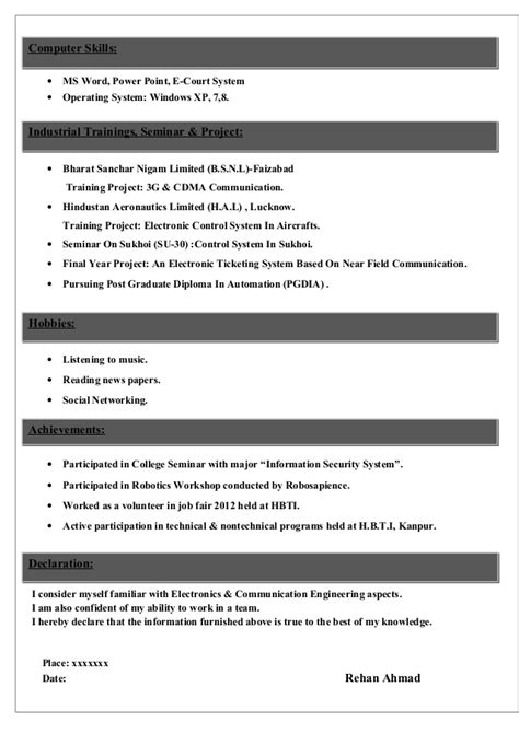 Resume Format For Diploma In Electronics.html