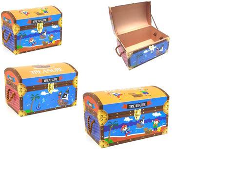 pirate design kids toy storage treasure chest